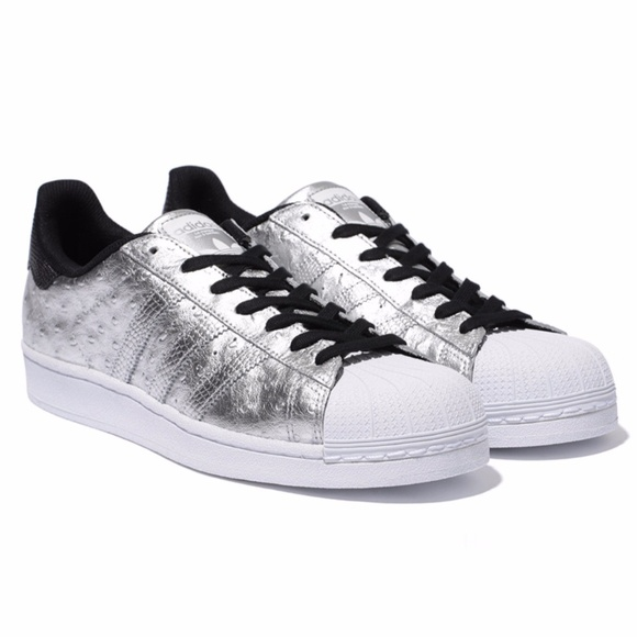finest selection 3fd7b 1805d adidas Shoes - Adidas Originals Superstar Metallic Silver Shoes